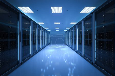 Photo for 3d rendering server room or data center - Royalty Free Image