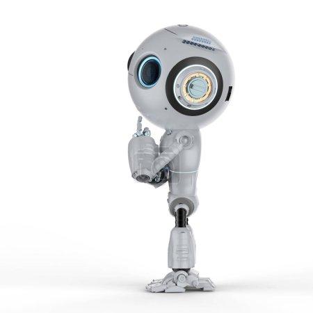 Foto de 3D Render lindo inteligencia artificial robot piense o análisis - Imagen libre de derechos