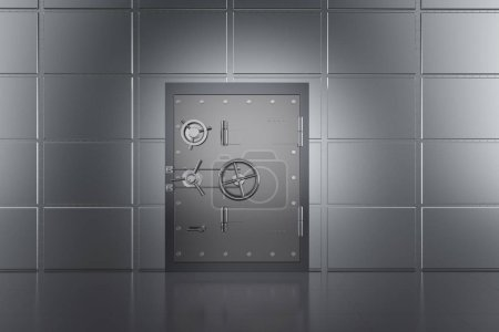 Photo for 3d rendering metallic bank safe or bank vault - Royalty Free Image