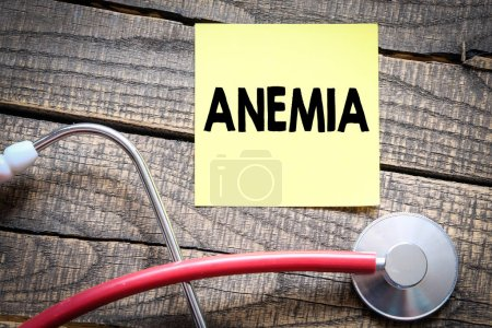 anemia medical concept on wooden background