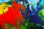 """Постер, картина, фотообои """"Абстрактные художественные масляные краски Холст Живопись гранж цвет фона"""""""