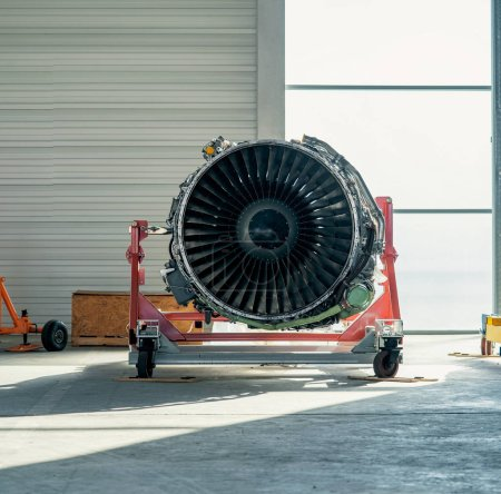 Photo for Airplane engine close up - Royalty Free Image