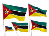Vector flags of Mozambique