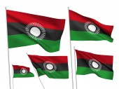 Vector flags of Malawi