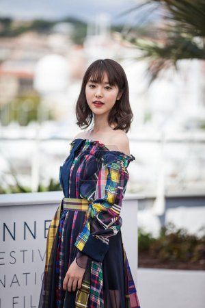 CANNES, FRANCE - MAY 15, 2018: Actress Erika Karata attends the photocall for the 'Asako I & II (Netemo Sametemo)' during the 71st annual Cannes Film Festival at Palais des Festivals