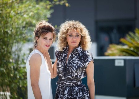 CANNES, FRANCE - MAY 15, 2018: Jasmine Trinca and director Valeria Golino attend the photocall for 'Euforia' during the 71st annual Cannes Film Festival