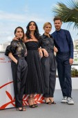 CANNES, FRANCE - MAY 15, 2019: Nurhan Sekerci-Porst, Nadine Labaki, Marina Fois and Lukas Dhont attend the photocall for the Un Certain Regard Jury during the 72nd annual Cannes Film Festival