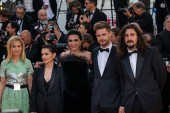 CANNES, FRANCE - MAY 15, 2019:  Un Certain Regard jury members Marina Fois, Nurhan Sekerci-Pors, Lukas Dhont, Lisandro Alonso and Nadine Labaki attend the screening of
