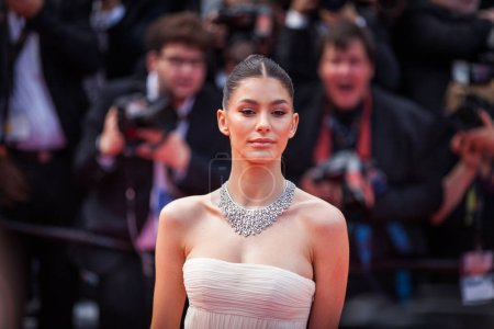 """Photo for CANNES, FRANCE - MAY 21, 2019: Camila Morrone attends the screening of """"Once Upon A Time In Hollywood"""" during the 72nd annual Cannes Film Festival - Royalty Free Image"""