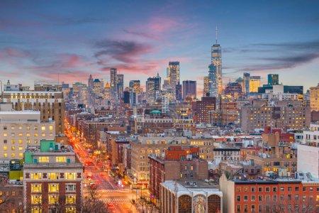 New York, New York, USA cityscape in Manhattan at twilight.