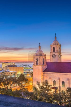 Photo for Corpus Christi, Texas, USA at Corpus Christi Cathedral in the early morning. - Royalty Free Image
