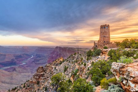 Photo for Desert View Watchtower at the Grand Canyon, Arizona, USA. - Royalty Free Image