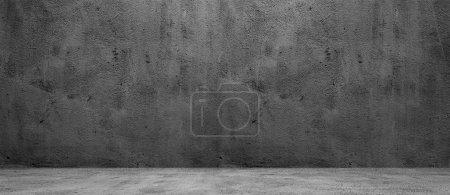 Photo pour Béton blanc large fond de texture de mur sombre - image libre de droit
