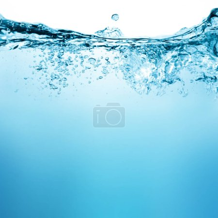 Photo for Water and air bubbles over white background - Royalty Free Image