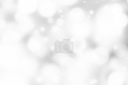 Foto de Plata de fondo bokeh. Luces borrosas Resumen - Imagen libre de derechos