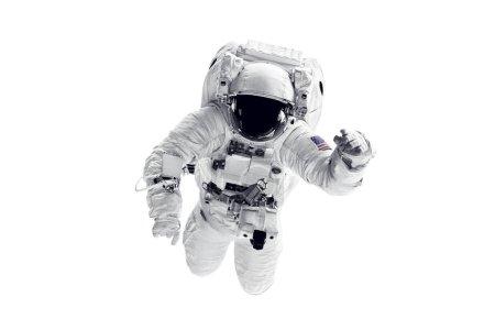 Foto de Astronauta con traje espacial sobre fondo blanco. Elementos de esta imagen proporcionada por la Nasa - Imagen libre de derechos