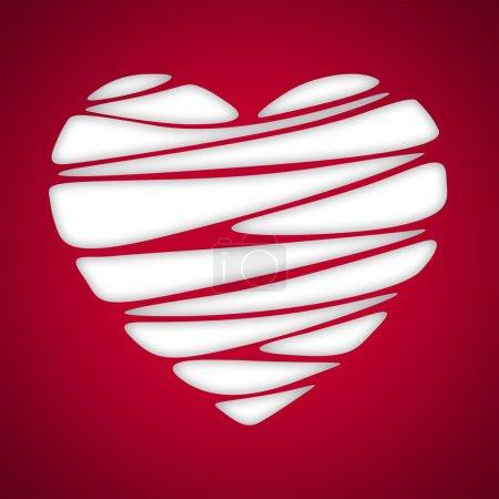 Photo pour Fond de corail forme coeur abstrait. Carte de Saint Valentin - image libre de droit