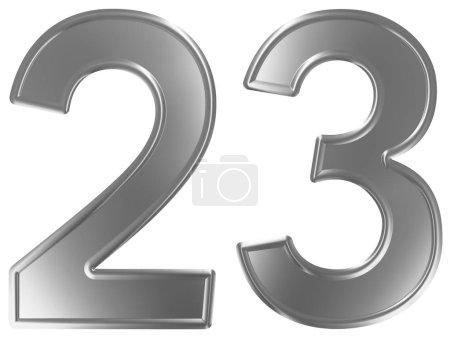 Photo pour Numéral 23, vingt-trois, isolé sur fond blanc, rendu 3d - image libre de droit