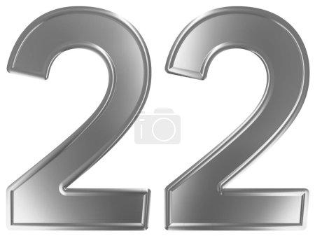 Photo pour Numéral 22, vingt-deux, isolé sur fond blanc, rendu 3d - image libre de droit
