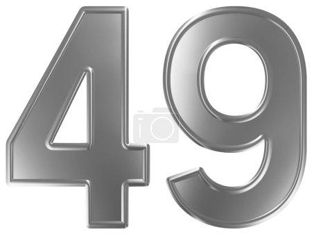 Photo pour Numéral 49, quarante-neuf, isolé sur fond blanc, rendu 3d - image libre de droit