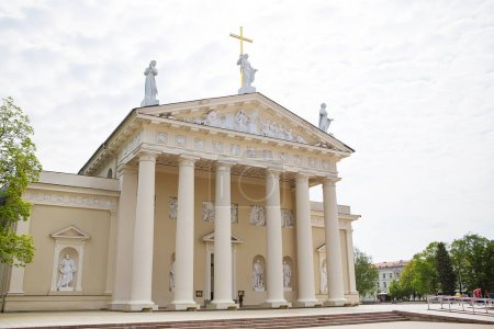 View of the Cathedral of the Basilica of St. Stanislaus and St. Vladislav. Vilnius, Lithuania