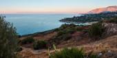 Evening twilight sea landscape of Zingaro Nature Reserve Park, between San Vito lo Capo and Scopello, Trapani province, Sicily, Italy.