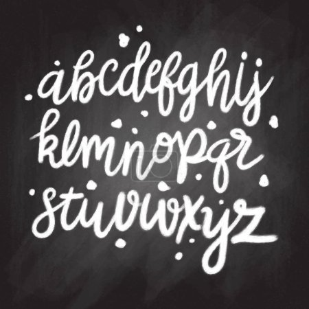 Hand drawn vector alphabet. Script font. Isolated letters writte