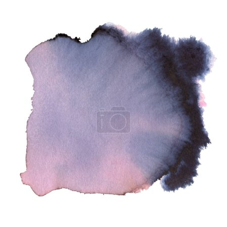 Grey and pink Watercolor spot, isolated on a white background.    Hand-drawn illustration.