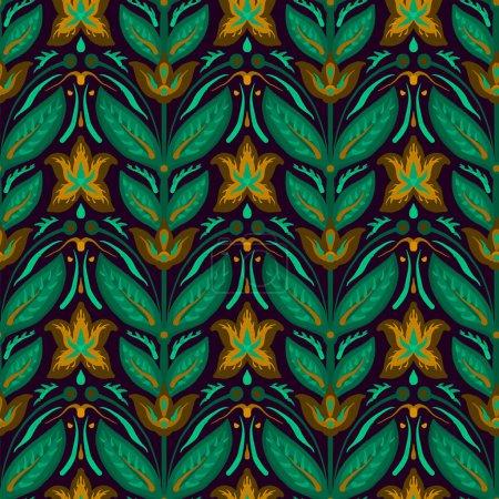 Photo pour Motif lumineux sans couture dans un style rétro avec texture en tissu . - image libre de droit