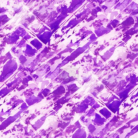 Abstract seamless pattern with purple  watercolor spots. Hand-drawn illustration.