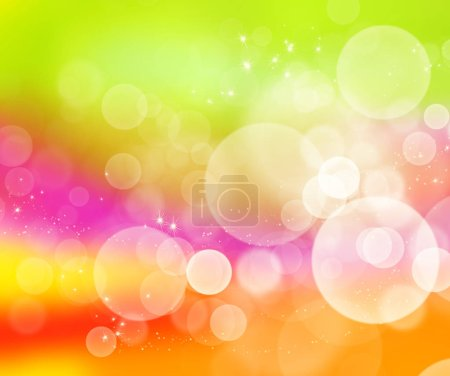 Foto de Fondo abstracto con bokeh. Multicolor fondo borroso. Ilustración digital. - Imagen libre de derechos