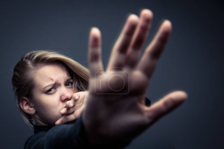 Photo for Young woman being a domestic violence victim - Royalty Free Image