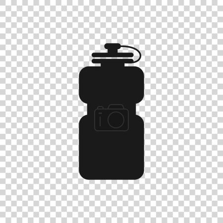 Photo for Grey Sport bottle with water icon isolated on transparent background. Vector Illustration - Royalty Free Image