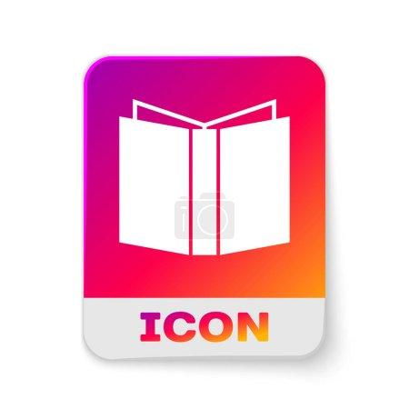 White Open book icon isolated on white background....