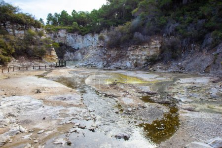 View of geo thermal park Waiotapu, New Zealand, no...