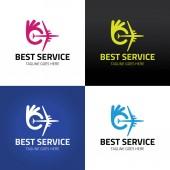 Best service logo design template Vector illustration