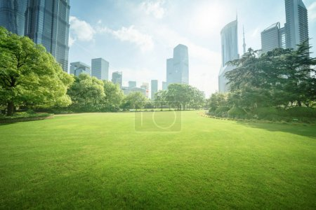 Photo for Green Space, Lujiazui Central, Shanghai, China - Royalty Free Image