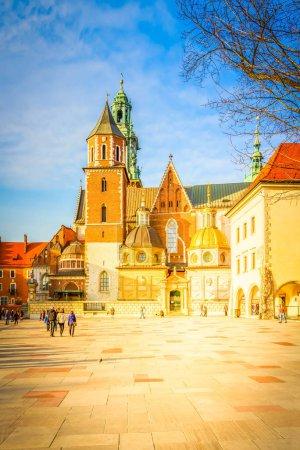 Wawel hill in Krakow, Poland