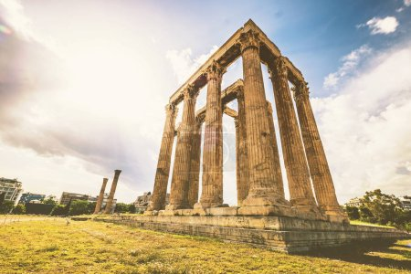 Photo for Ruins of the Temple of Olympian Zeus at Athens - Royalty Free Image