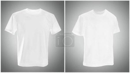 White T shirt on gray background