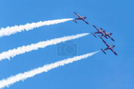 Canadian Forces Snowbirds perform during the 70 An...