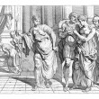 Odysseus and Penelope on their way to bed, After t...
