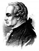 Kant vintage engraving