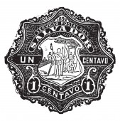 This image represents Salvador 1 Centavo Envelope in 1892 vintage line drawing or engraving illustration