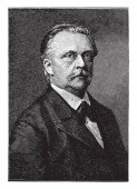 Hermann von Helmholtz 1821-1894 he was a German physician and physicist who made significant contributions in several scientific fields vintage line drawing or engraving illustration