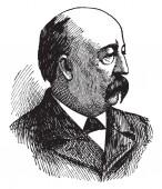 Cushman Kellogg Davis, 1838-1900, he was an American republican politician, seventh governor of Minnesota and U.S. senator from Minnesota, vintage line drawing or engraving illustration
