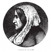 George Eliot (Mary Ann Evans) 1819-1880 she was an English novelist poet journalist translator and one of the leading writers of the Victorian era vintage line drawing or engraving illustration