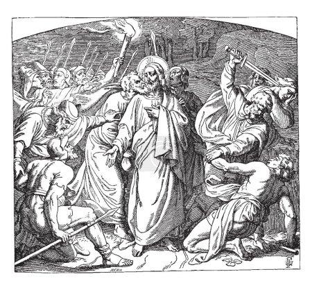 Judas Betraying Jesus with a