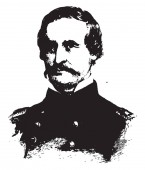 General David Hunter 1802-1886 he was a union general during the American civil war vintage line drawing or engraving illustration