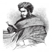 Hugh Miller 1802-1856 he was a Scottish geologist writer folklorist and an evangelical Christian vintage line drawing or engraving illustration